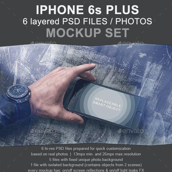 6 Photo - iPhone 6s Plus Mockup Set