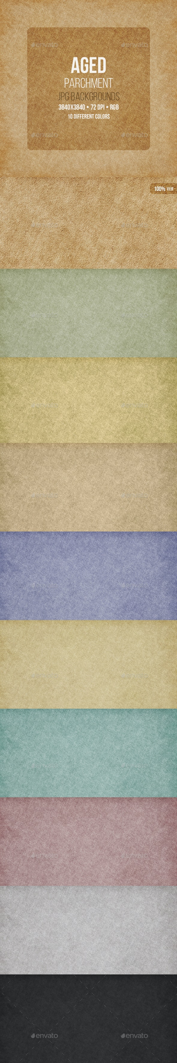 Aged Parchment Backgrounds - Patterns Backgrounds