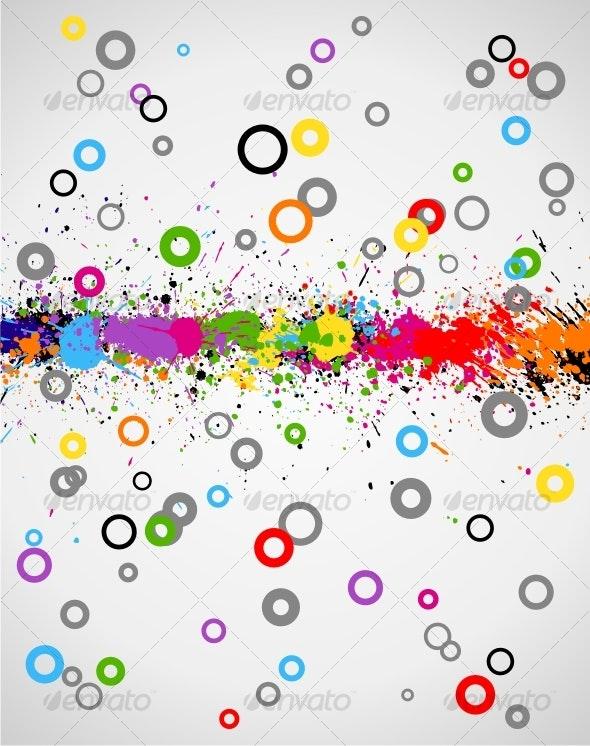 Color paint splashes background - Backgrounds Decorative