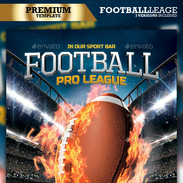 American Football Flyer / Football League