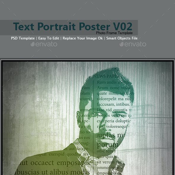 Text Portrait Poster V02
