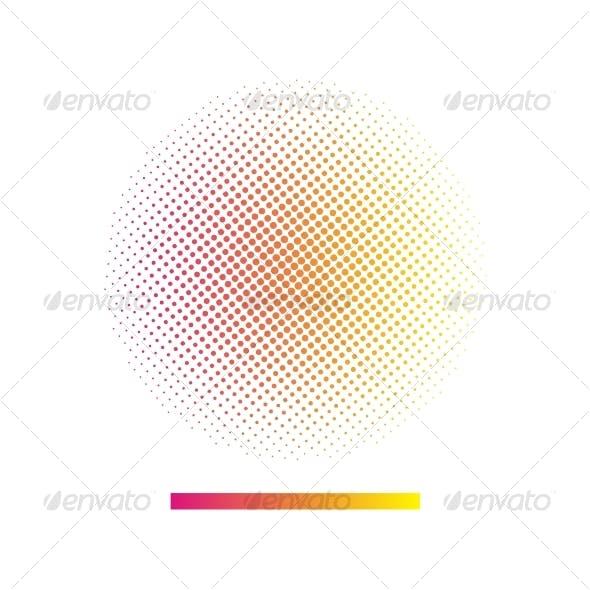 Gradient halftone vector background