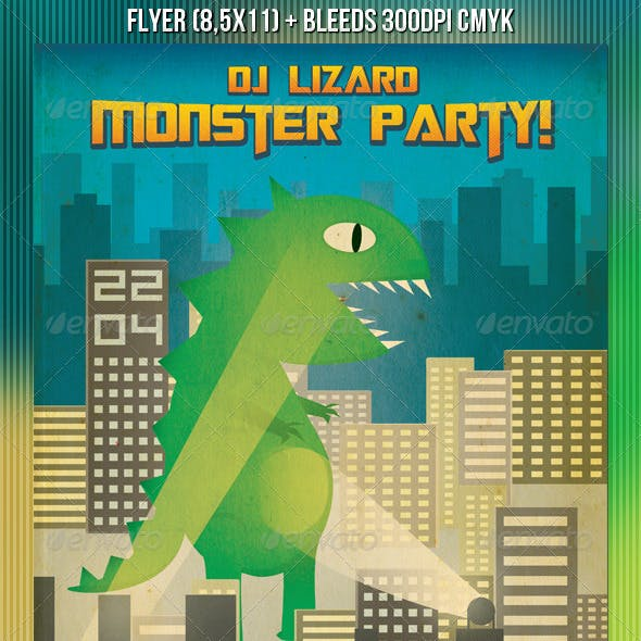 Monster Party Flyer