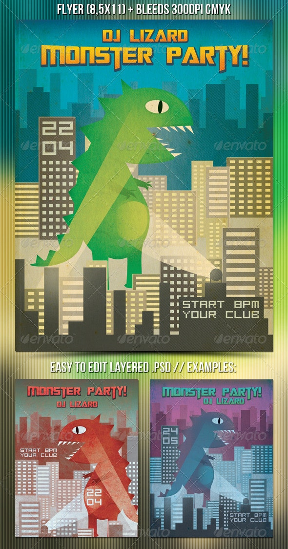 Monster Party Flyer - Clubs & Parties Events