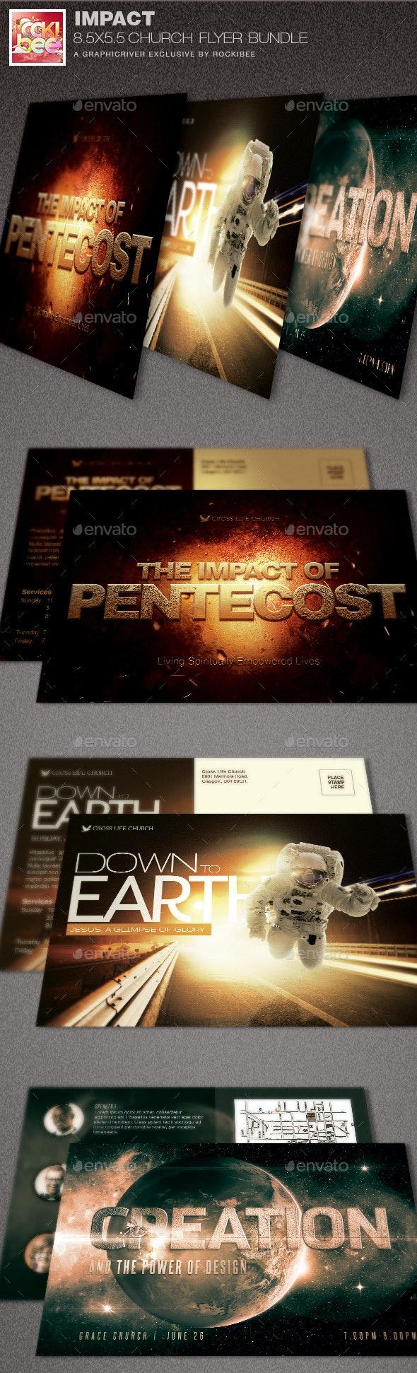 Impact Church Flyer Template Bundle - Church Flyers