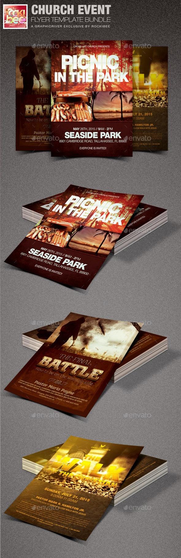 Church Event Flyer Template Bundle - Church Flyers