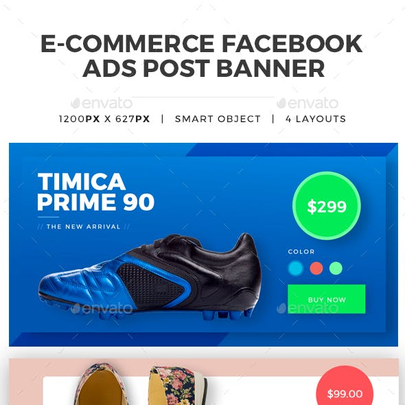 Facebook Ecommerce Ads Post Banner