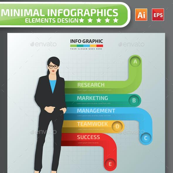 Minimal  Woman infographic Design