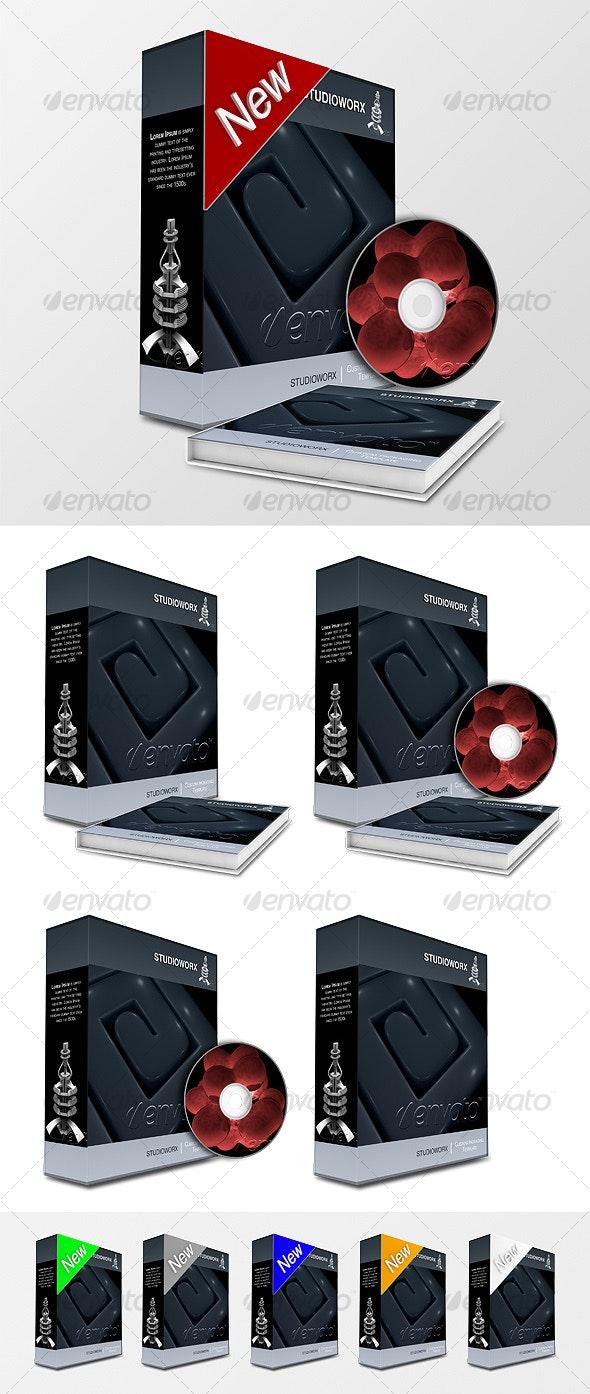 3D PREMIERE PACKAGING TEMPLATE - 3D Renders Graphics