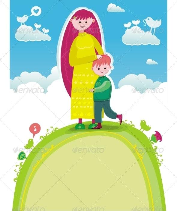 Happy Mother's Day! - Characters Vectors