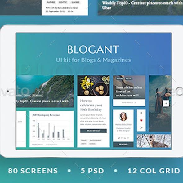 Blogant - UI Kit for Blogs & Magazines