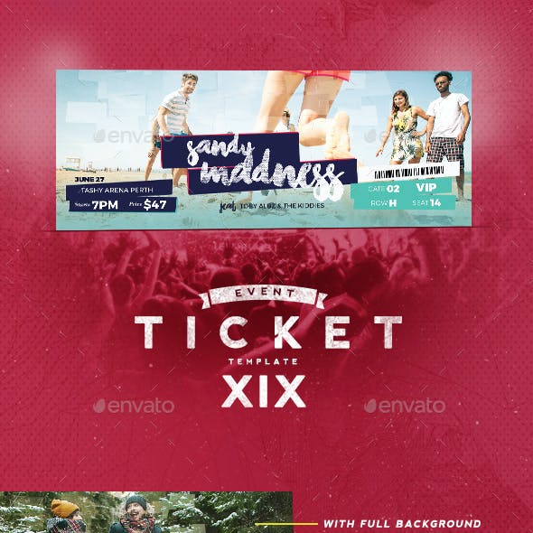 Event Tickets Template XIX