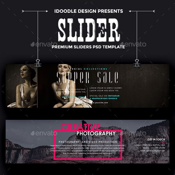 Promotion Sliders - 50 PSD