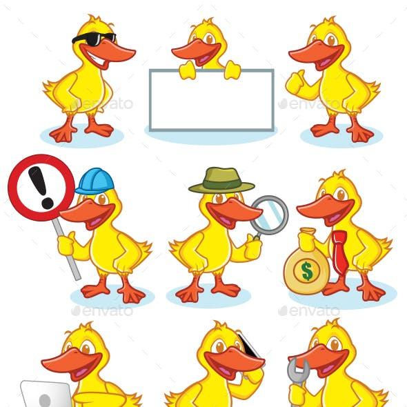 Duck Mascot Set