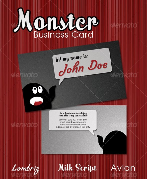 Monster Business Card - Creative Business Cards