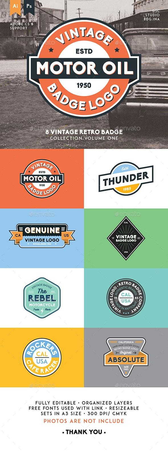 8 Vintage Retro Badge - Badges & Stickers Web Elements