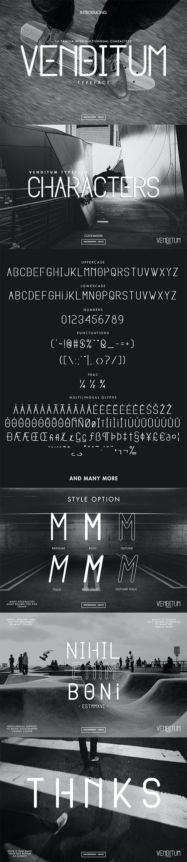 Venditum Typeface - Sans-Serif Fonts