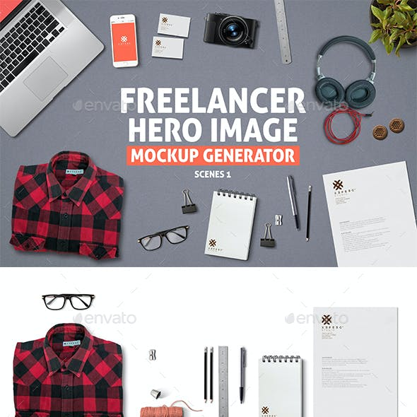 Freelancer Hero Image Mockup Generator