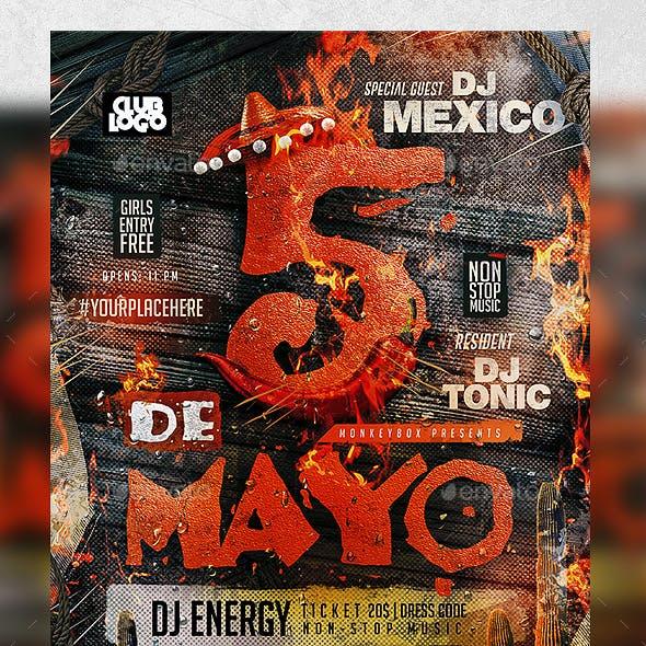 Flyer Cinco de Mayo Template