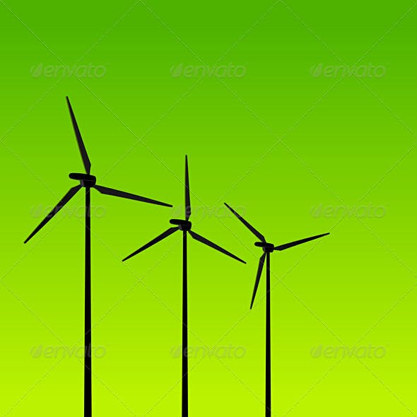 Eco Energy Turbines on Green