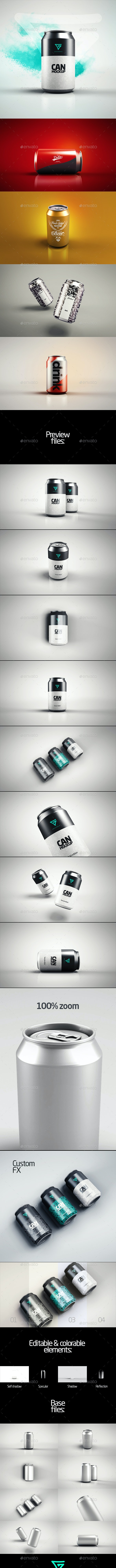 Can Mock-up / Drink Soda 330 ml - Food and Drink Packaging