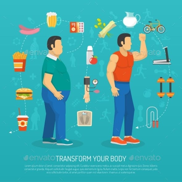 Health And Obesity Illustration
