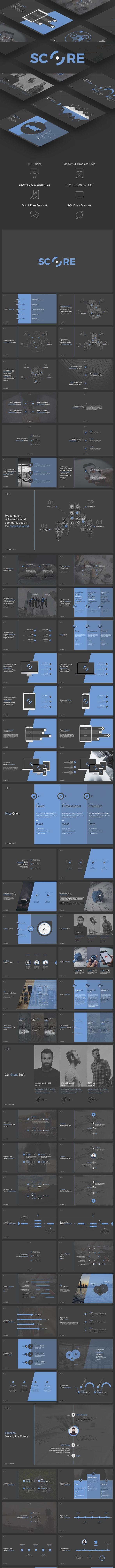 Score PowerPoint - PowerPoint Templates Presentation Templates