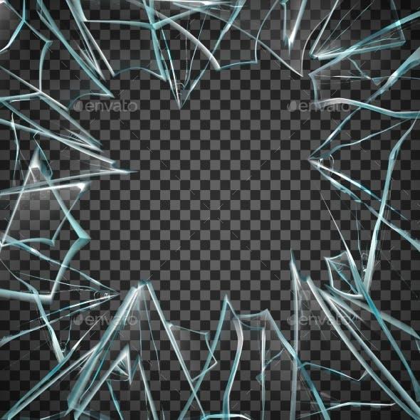 Broken Glass Transparent Frame