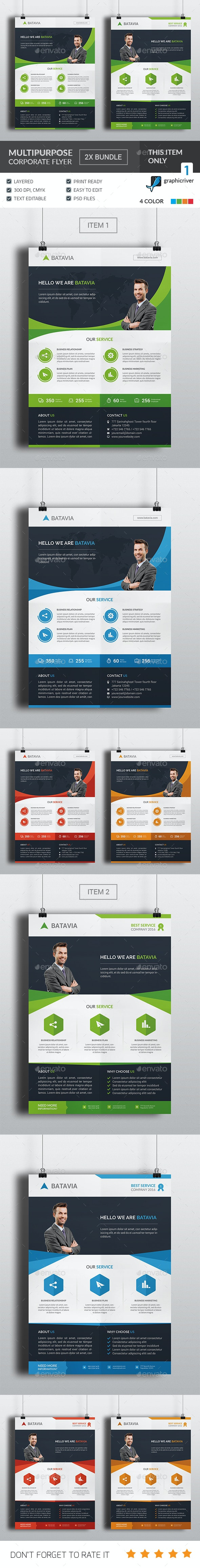 Multipurpose Corporate Flyer Bundle - Corporate Flyers
