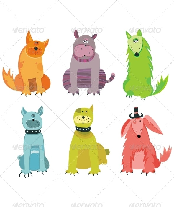 Funny vector dogs - Animals Characters