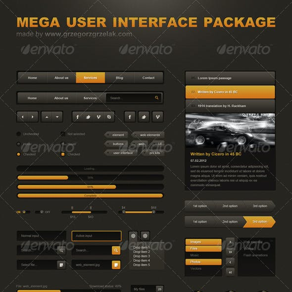 Mega User Interface Package