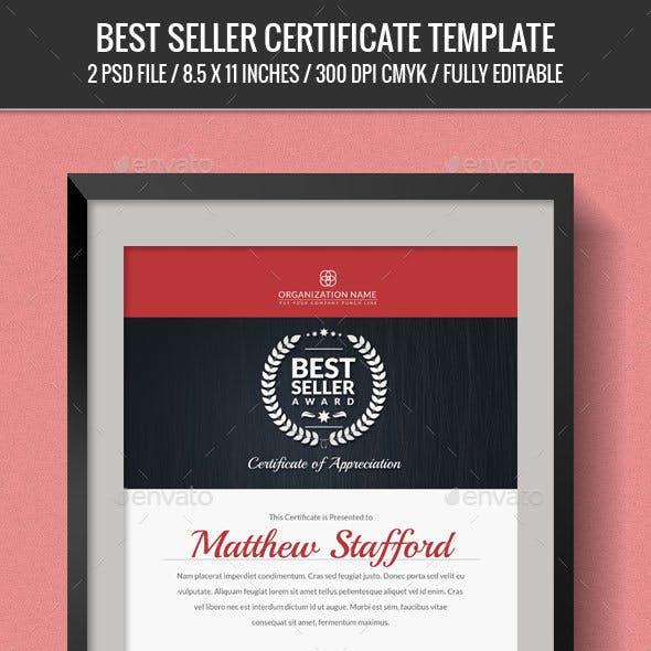 Seller Certificates