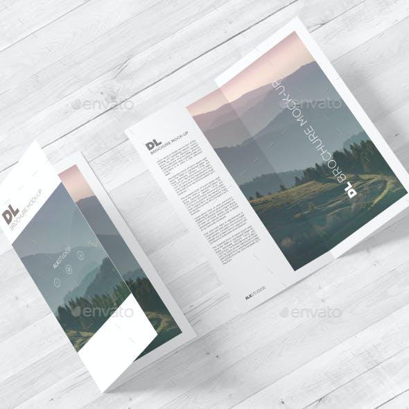 DL Bi-fold Brochure Mock-Up Vol. 2