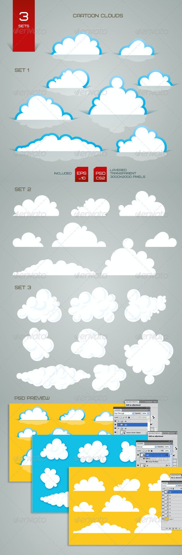 Cartoon Clouds - Nature Conceptual