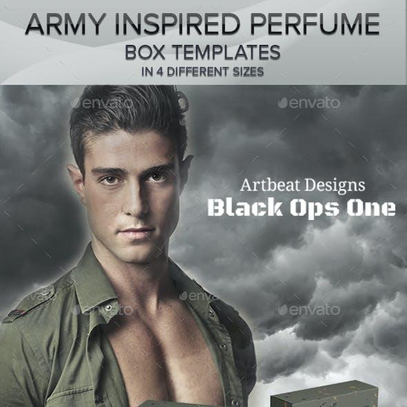 Army Inspired Perfume Box Templates