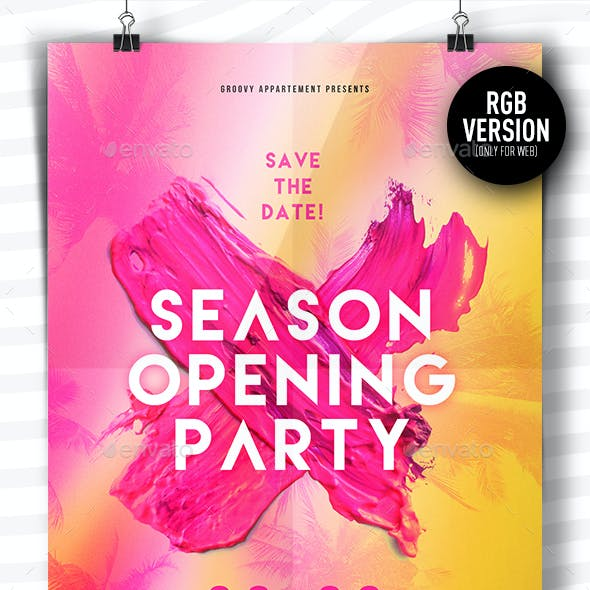 Season Opening Party Flyer