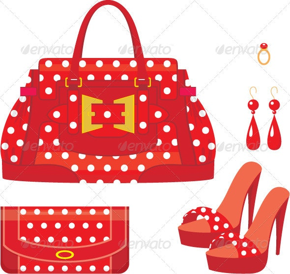 Female bag, purse and shoes on a heel - Commercial / Shopping Conceptual