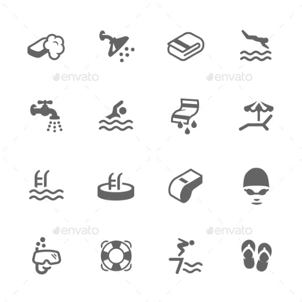 Simple Water Pool Icons
