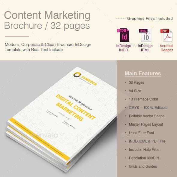 A4 Content Marketing Brochure