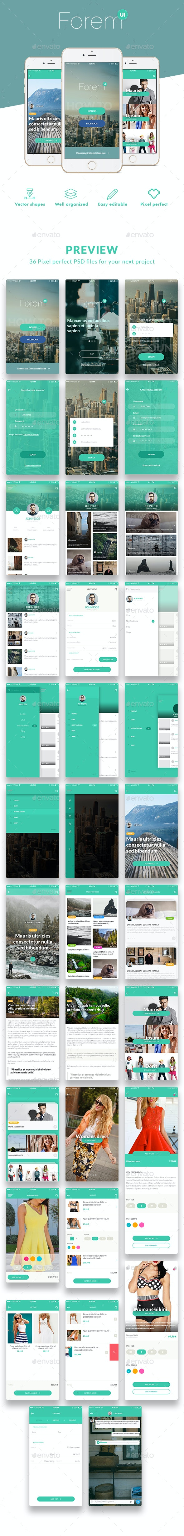 ForemUI Kit - User Interfaces Web Elements