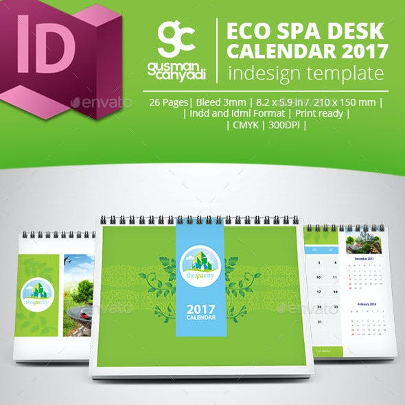 Eco Spa Desk Calendar 2017