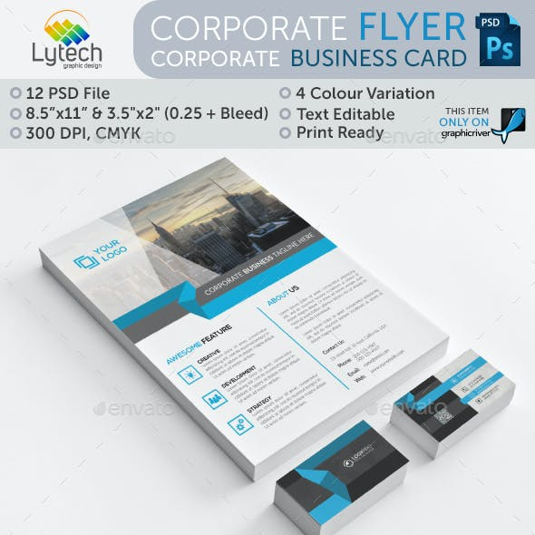 Corporate Flyer + Business Card (Bundle 2 in 1)
