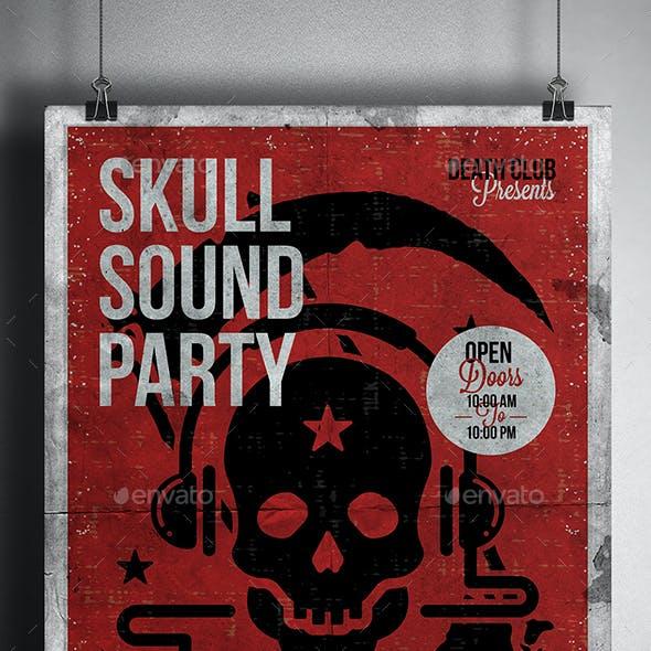 Skull Sound Flyer Template
