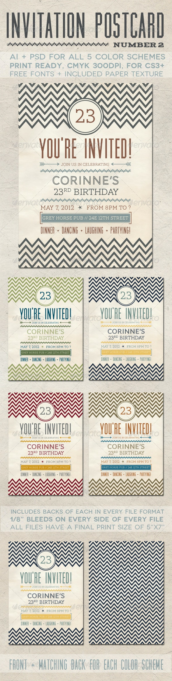 Invitation Postcard 2 - Invitations Cards & Invites
