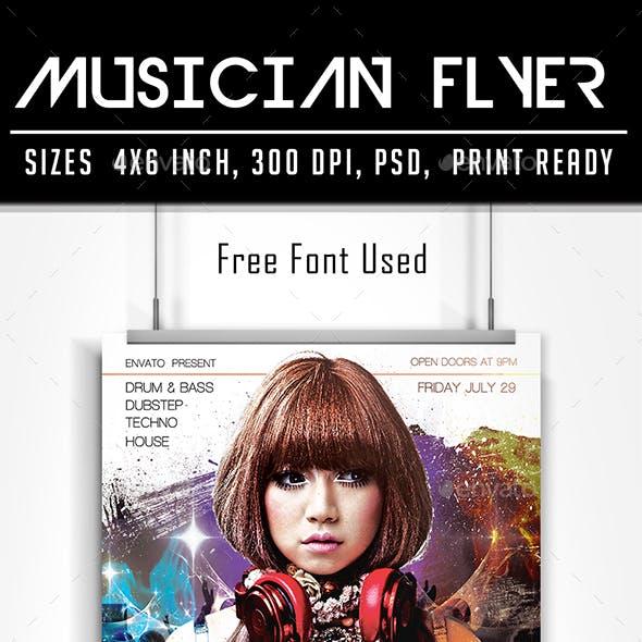 Musician Remix Flyer