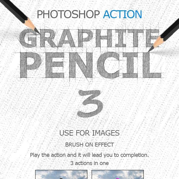 Graphite Pencil 3 Photoshop Actions