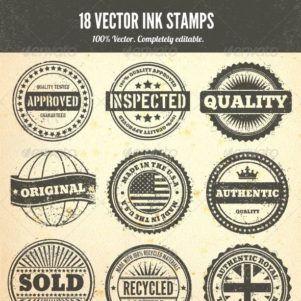 Rubber Stamps - Vector Set