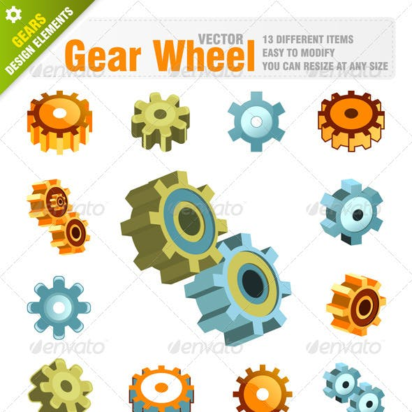 Machine Gear Wheel Symbols