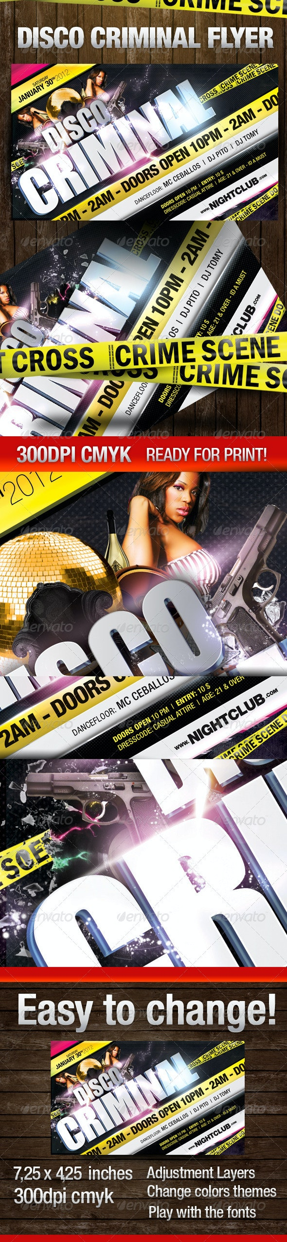 Disco Criminal Party Flyer - Clubs & Parties Events