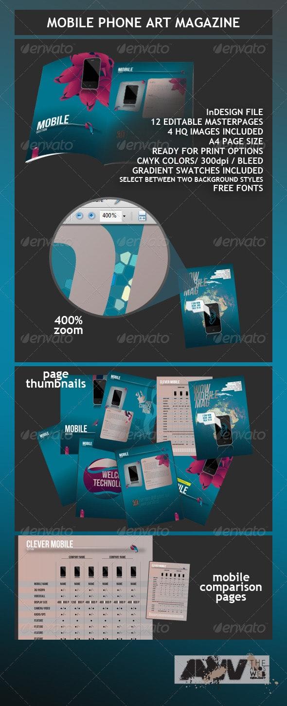 Mobile Phone Art Magazine Template - Magazines Print Templates